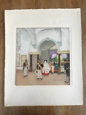 "c.1940s ""ATTENDING AN INDUSTRIAL EXHIBITION"" YÛKI SOMEI PAINTING PRINT MEIJI"