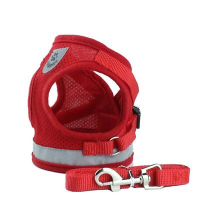 Mesh Reflective Pet Dog Collar Leash Dog Harness for Small Medium Large Dogs