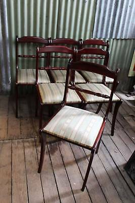 A Set of Six Vintage Regency Revival Dining Chairs