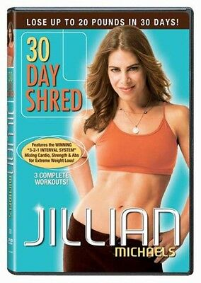 DVD Jillian Michaels: 30 Day Shred NEW SEALED — 3 Complete Workouts Cardio Abs