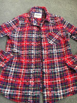 Boden Johnnie B Girls Checked Shirt Age 11-12 Years.