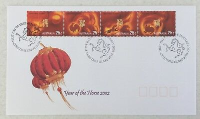Christmas Island 2002 Year of The Horse 4 stamps FDC - will combine post