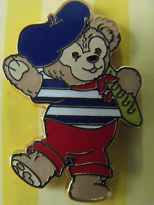 2011 Disney Booster Trading Pin Duffy Bear WDW Epcot Costume France French Beret