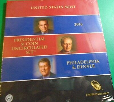 2016 p ,d Uncirculated Presidential Dollars 6 Coin Set Mint Sealed