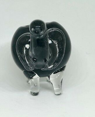 Black 2.5 inch Elephant TOBACCO Smoking Pipe Herb bowl Glass Hand Pipes