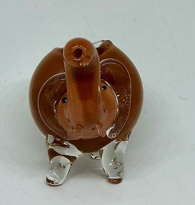 Brown 2.5 inch Elephant TOBACCO Smoking Pipe Herb bowl Glass Hand Pipes