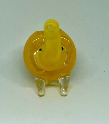 Yellow 2.5 inch Elephant TOBACCO Smoking Pipe Herb bowl Glass Hand Pipes