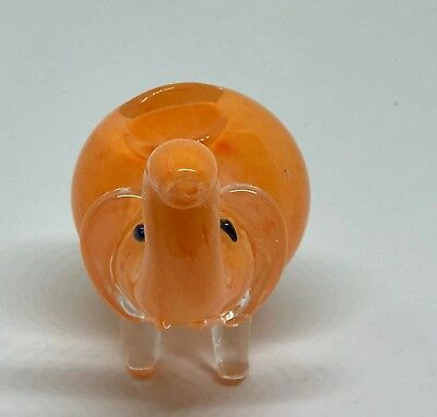Orange 2.5 inch Elephant TOBACCO Smoking Pipe Herb bowl Glass Hand Pipes