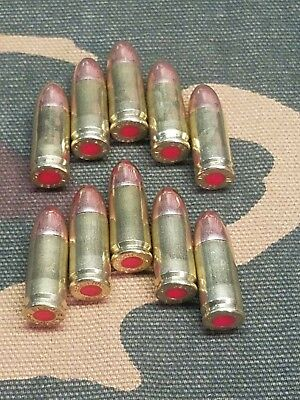 9Mm Luger Snap Caps  Set Of 10 (Brass) Real Weight!!!