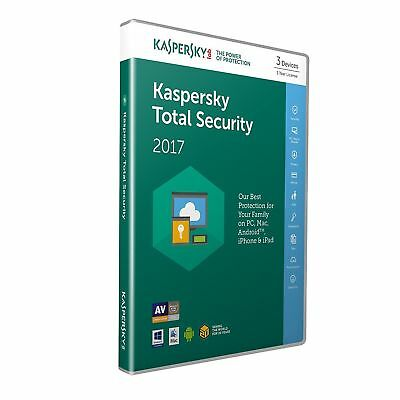 Kaspersky Total Security Multi Device 2017 3 User 1 Year Antivirus Retail Box