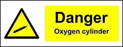 Warning signs Danger oxygen cylinder Safety sign