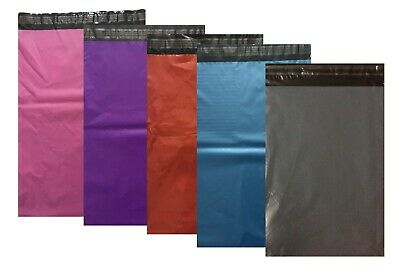 "100 10""X14"" Large Self Seal Mailing Bags Polythene Postage Poly Packing Coloured"