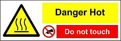 Hot Surface kitchen sign - Danger hot do not touch safety sign