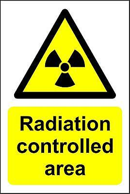 Radiation controlled area Safety sign