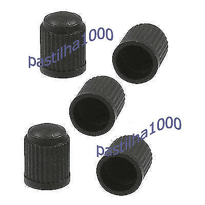 Dust Air Valve Tyre Caps Black Plastic Covers Car Bike Wheel & Motorbike New