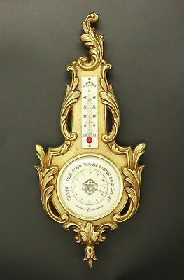 LARGE BAROMETER, LOUIS XV STYLE - BRONZE - FRENCH ANTIQUE - Functional