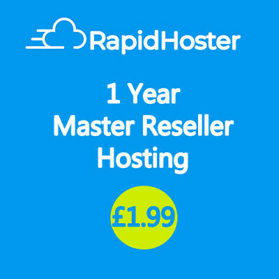 1 Year | Master Reseller Hosting | cPanel | UK Company | 24/7 Support