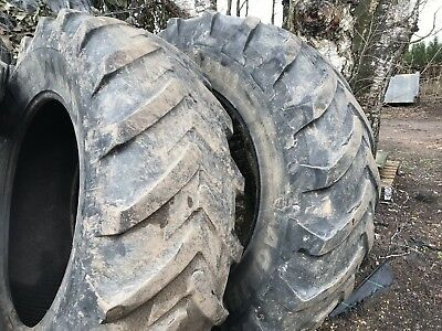 2 X Michelin Agribib 20.8 R38 (520/85 R38) Tractor Loader Tyres Tyre