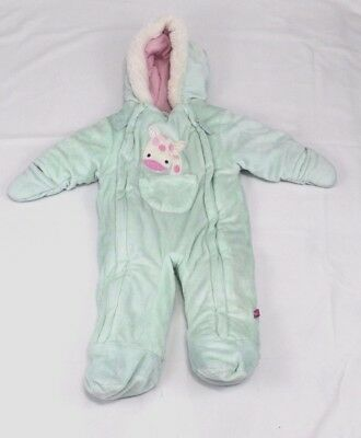 09e97956c Wippette Baby Girls Size 6/9 Months Microfiber Quilted Snowsuit Snow Pram  Suit