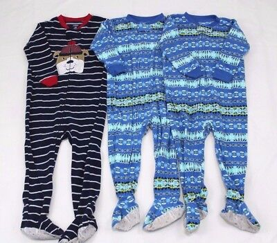 12M 4T 5T #b68 Toddler Boys/' Construction Footed Sleeper 2 SET CARTERS