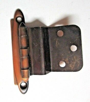 "1 Ultra Retro Vintage Copper Cabinet Hinge 1/2"" Inset Face Mount Bullet Finials"