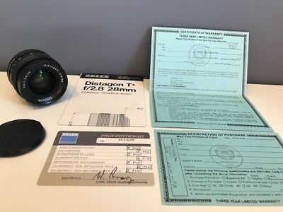 Carl Zeiss Distagon T* F2.8 28mm Lens Contax Yashica Mount MINT