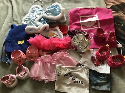 Build a Bear Clothing, Shoes, Carrier and Skate Bundle