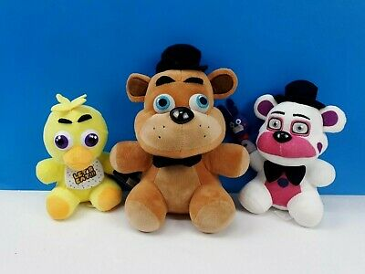 "Five Nights At Freddys FAZBEAR, CHICA & FUNTIME FREDDY Stuffed Animal 6"" to 10"""