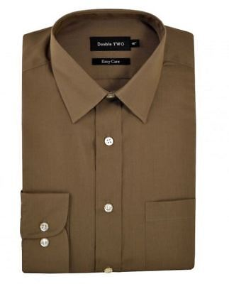 Double Two Classic Cotton Blend Long Sleeved Shirt in Mushroom