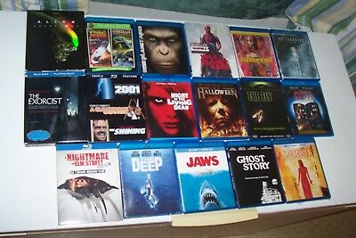 Blu-Ray,the Deep,jaws,halloween,ghost Story,elm Street,exorcist,stanley Kubrick