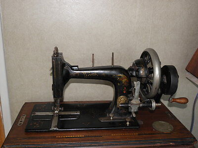 ANTIQUE SEWING MACHINE boxed wertheim old TOOLS vintage century machine age