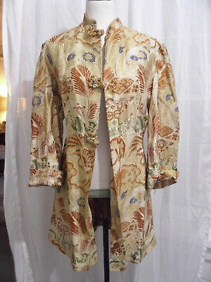 Antique Chinese Silk Brocade Made up into Jacket For Finishing or Craft Purposes