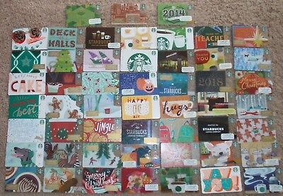STARBUCKS Collectible Gift Cards - LOT of 52 Diff - Older & Recent (2014,15,17)