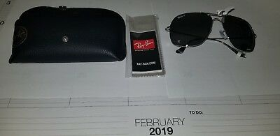3aaa54a8cae Ray-Ban Chromance Polarized Sunglasses Rb3587Ch 003 5J Silver Mirror Lens  61Mm