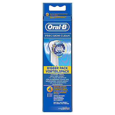 Braun Oral-B Precision Clean Replacement Electric Toothbrush Heads Pk Of 4