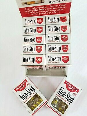 Nico-Stop And BLOCKS  Disposable Cigarette Filter Tips 12 Packs (360 filters)
