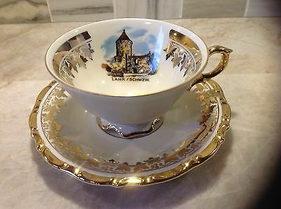 Waldershof Bavaria Teacup and Saucer Germany