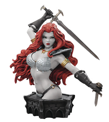 B&W Red Sonja Statue Action Figure Sculpture Sword Fantasy Conner Bust Special
