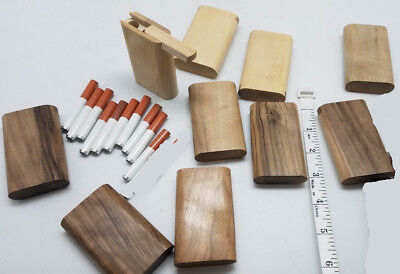 Lot of 10 small slide top walnut wood Dugout With one hitter bat pipe US seller