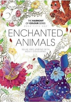 Harmony of Colour Book 51: Enchanted Animals - Adult Colouring 36 Designs - NEW