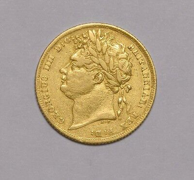 1825 Sovereign Laur Head Very Rare George Iv ® 1256-20