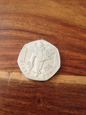 2006 Victoria Cross 50p Coin Man Heroic Act Starburst Vc