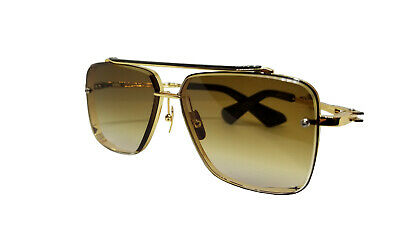 7777bf150f6 Dita MACH SIX Sunglasses DTS 121 Gold Brushed Frame with Brown Gradient Lens