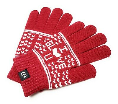 UK fast delivery Women Ladies Girls Warm Knitted Winter Wool Gloves Red