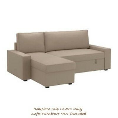 Vilasund Beige 430 Sofa Longue W Cover 102 79new For Bed Dansbo Ikea Chaise Y7v6Ibfgy