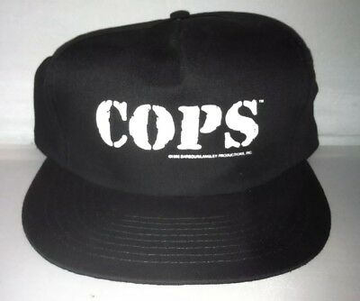 4e70ac55ab9 Vtg COPS TV Show Snapback hat cap rare Reality 90s NWOT Fox Police sheriff  chief