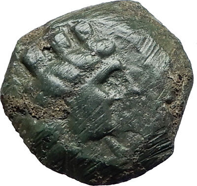 ARADOS Phoenicia Authentic Ancient 242BC Greek Coin TYCHE & ATHENA GALLEY i75520