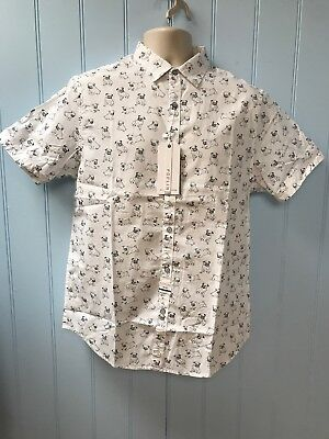 7bfe1dcac2 NWT  44 Denim   Flower Ricky Singh Short Sleeve Men s Pugs Casual Shirt  Size XL