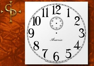 ANSONIA, Antique Clock Dial, logo, seconds dial, manufactured by, clock dial