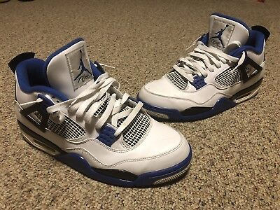 reputable site 547ca 51ea0 Air Jordan IV 4 Retro Motorsport White Game Royal 308497-117 Size 12 Used